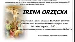 Zmarła Irena Orzęcka. Żyła 81 lat.