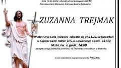 Zmarła Zuzanna Trejmak. Żyła 93 lata.