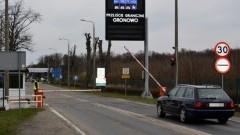 Czasowo wstrzymana odprawa na przejściu granicznym w Gronowie.