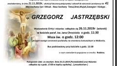 Zmarł Grzegorz Jastrzębski. Żył 41 lat.