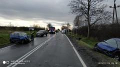 Koniecwałd: Zderzenie aut osobowych. Poszkodowany zabrany przez LPR
