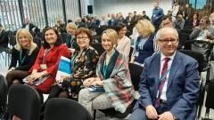 """Przedstawiciele malborskiego urzędu pracy wśród uczestników konferencji """"Edukacja i biznes – kluczowe partnerstwo""""."""