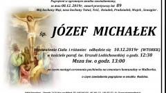 Zmarł Józef Michałek. Żył 89 lat.