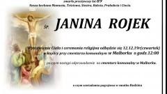 Zmarła Janina Rojek. Żyła 89 lat.