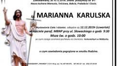 Zmarła Marianna Karulska. Żyła 91 lat.