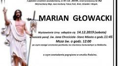 Zmarł Marian Głowacki. Żył 92 lata.