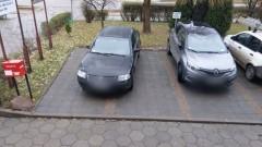 Mistrz (nie tylko) parkowania na Kotarbińskiego w Malborku.