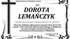 Zmarła Dorota Lemańczyk. Żyła 85 lat.