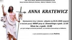 Zmarła Anna Kratewicz. Żyła 92 lata.