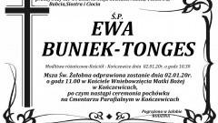Zmarła Ewa Buniek - Tonges. Żyła 64 lata.