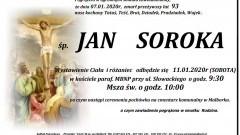 Zmarł Jan Soroka. Żył 93 lata.