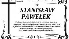 Zmarł Stanisław Pawełek. Żył 58 lat.