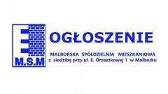 Malborska Spółdzielnia Mieszkaniowa ogłasza przetargi