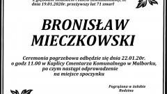 Zmarł Bronisław Mieczkowski. Żył 71 lat.