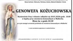 Zmarła Genowefa Kożuchowska. Żyła 69 lat.