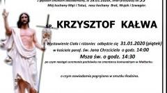 Zmarł Krzysztof Kałwa. Żył 55 lat.