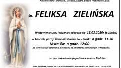 Zmarła Feliksa Zielińska. Żyła 91 lat.