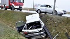Wypadek na DK22 z udziałem nietrzeźwego kierowcy.