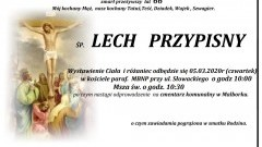 Zmarł Lech Przypisny. Żył 66 lat.