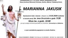 Zmarła Marianna Jakusik. Żyła 84 lata.