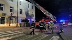 Nocna akcja strażaków. Pożar komina w Malborku.