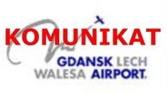 Komunikat dotyczący aktualnej sytuacji na gdańskim lotnisku w związku z koronawirusem.