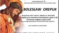 Zmarł Bolesław Orepuk. Żył 71 lat.