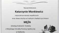 Koleżanki i Koledzy z Miejskiego Ośrodka Pomocy Społecznej w Malborku składają kondolencje