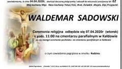 Zmarł Waldemar Sadowski. Żył 62 lata.
