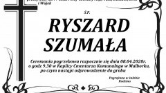 Zmarł Ryszard Szumała. Żył 77 lat.