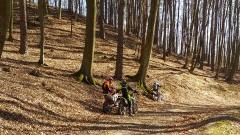Mimo zakazu urządzili sobie przejażdżkę motorami po lesie.