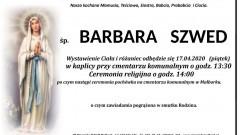 Zmarła Barbara Szwed. Żyła 91 lat.