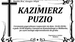 Zmarł Kazimierz Puzio. Żył 62 lata.