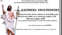 Zmarła Kazimiera Kwiatkowska. Żyła 82 lata.