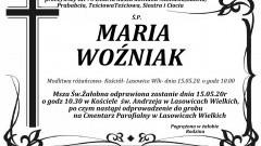 Zmarła Maria Woźniak. Żyła 73 lata.