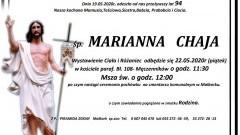 Zmarła Marianna Chaja. Żyła 94 lata.