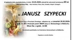 Zmarł Janusz Szypecki. Żył 65 lat.