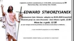 Zmarł Edward Stworzyjanek. Żył 84 lata.