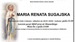 Zmarła Maria Sugajska. Żyła 65 lat.