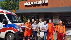 Załoga McDonald's Malbork odebrała podziękowania od Powiatowego Centrum Zdrowia