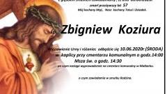 Zmarł Zbigniew Koziura. Żył 57 lat.