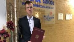 Najlepszym absolwentem w powiecie malborskim okazał się uczeń ZSP3.
