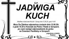 Zmarła Jadwiga Kuch.
