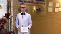 Uczeń ZSP3 wyróżniony w międzynarodowym konkursie.
