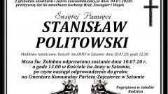 Zmarł Stanisław Politowski. Żył 66 lat.