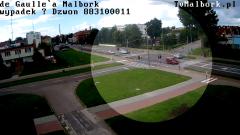Wyprzedzanie na czerwonym i na przejściu dla pieszych na de Gaulle´a w Malborku. Film ku przestrodze.