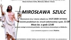Zmarła Mirosława Szulc. Żyła 59 lat.