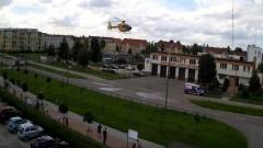 Mężczyzna z udarem zabrany LPR do Kościerzyny.