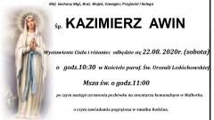 Zmarł Kazimierz Awin. Żył 71 lat.