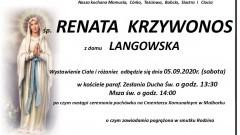 Zmarła Renata Krzywonos. Żyła 59 lat.